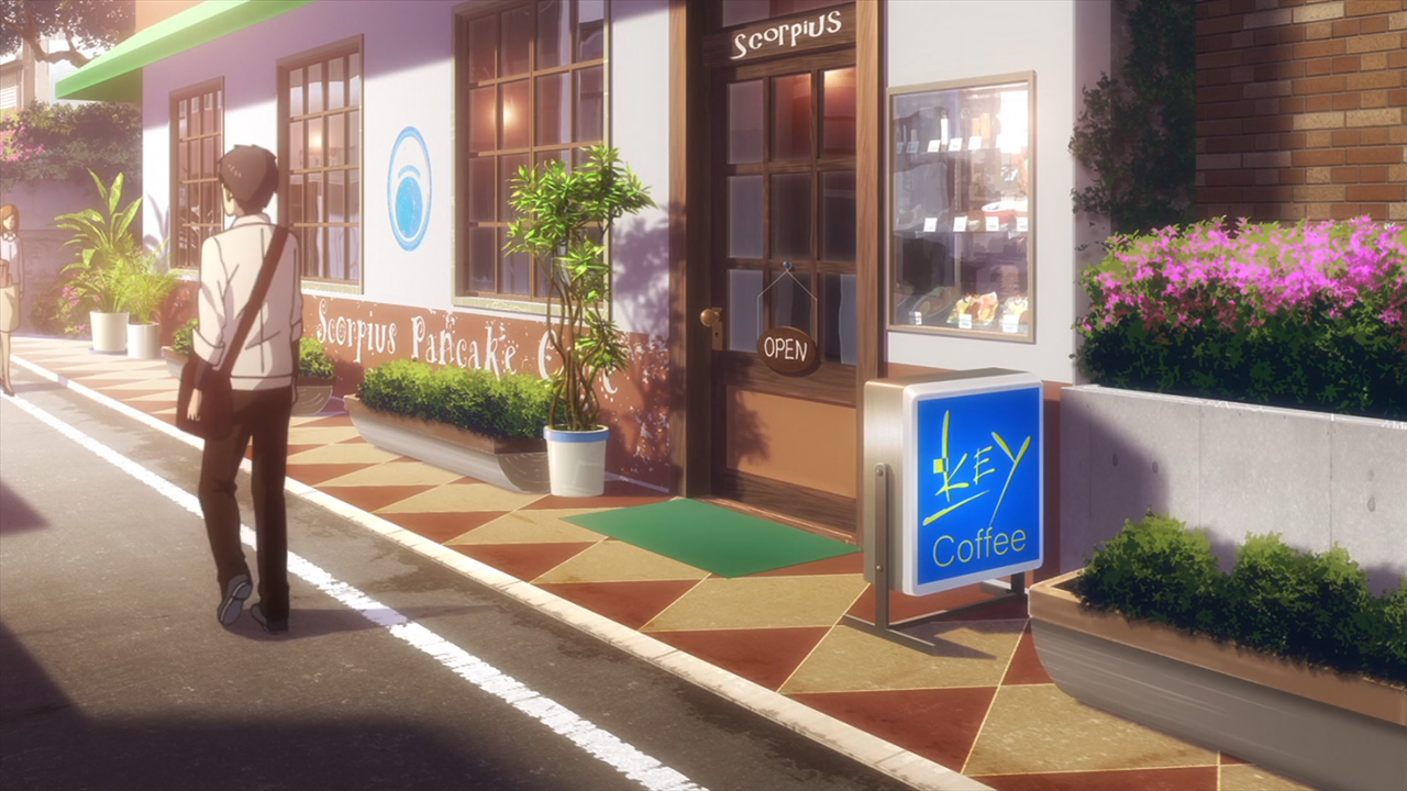A café named Scorpius with coffee made by Key.