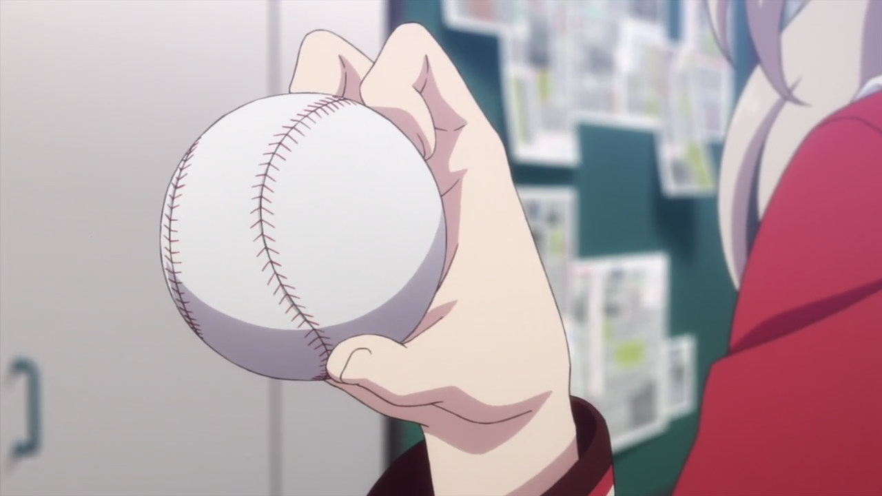 Tomori gripping a baseball