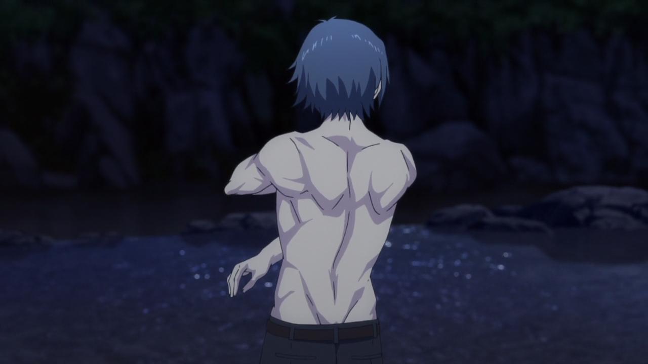 Joujirou bathing
